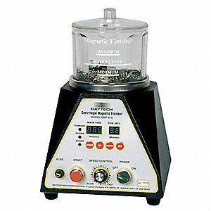"100g Centrifugal Magnetic Finisher, 4"" Bowl Dia., 4-1/2"" Bowl Height, 115V, 2 Amps, 1/32 HP"