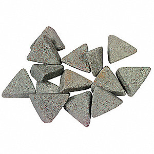 "Ceramic Media, Triangle, 5/16"" x 7/8"", 90 lb//cu.ft., 20 lb., For Use With Vibratory Tumbler"