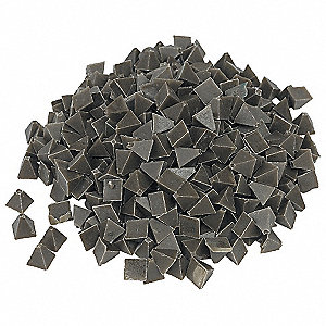 "Plastic Media, Pyramid, 1/4"", 55 lb./cu.ft., 5 lb., For Use With Vibratory Tumbler"