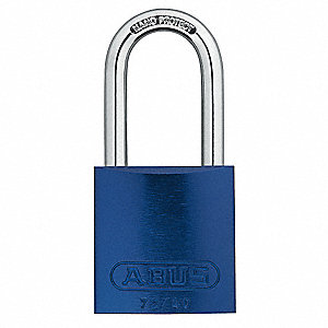 Blue Lockout Padlock, Alike Key Type, Master Keyed: Yes, Aluminum Body Material
