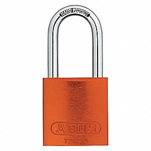 Orange Lockout Padlock, Alike Key Type, Master Keyed: Yes, Recycled Anodized Aluminum Body Material