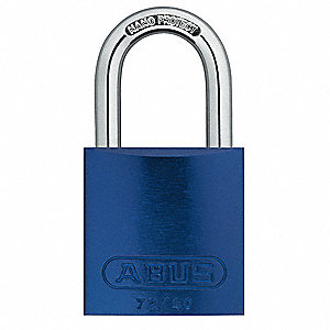 Blue Lockout Padlock, Alike Key Type, Aluminum Body Material