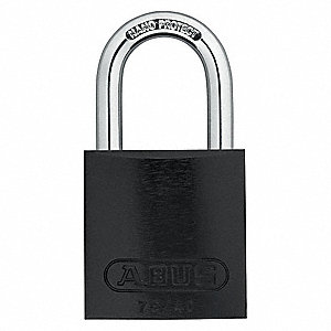 Black Lockout Padlock, Alike Key Type, Master Keyed: Yes, Aluminum Body Material