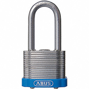 Blue Lockout Padlock, Different Key Type, Steel Body Material