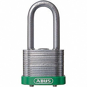 "Lockout Padlock,KD,MK,Green,1-3/8""H"
