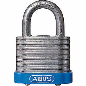 "Lockout Padlock,KA,Blue,1-3/8""H"