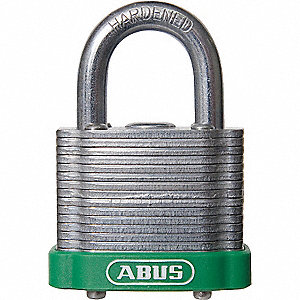 Green Lockout Padlock, Different Key Type, Steel Body Material