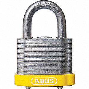 Yellow Lockout Padlock, Different Key Type, Steel Body Material