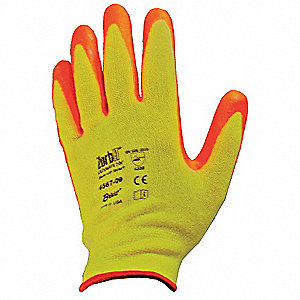 Nitrile Cut Resistant Gloves, ANSI/ISEA Cut Level 3 Lining, Orange, Yellow, XS, PR 1