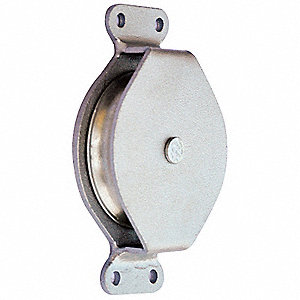 Pulley Block,Wire Rope,570 lb Load Cap.