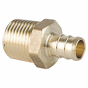 PEX and Pipe Adapter,Low Lead Brass