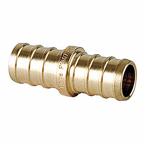 "Low Lead Brass Coupling, PEX Connection Type, 3/4"" PEX Size"