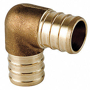 "Low Lead Brass Elbow, 90°, PEX Connection Type, 1/2"" PEX Size"