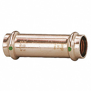 "Copper Extended Coupling No Stop, Press x Press Connection Type, 1/2"" x 1/2"" Tube Size"