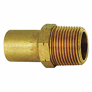 "Low Lead Bronze Male Adapter, FTG x MPT Connection Type, 1/2"" Tube Size"