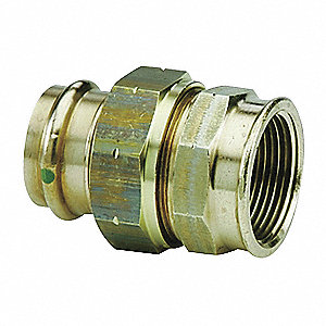 "Low Lead Bronze Union, Press x FPT Connection Type, 1-1/4"" x 1-1/4"" Tube Size"