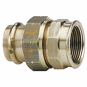 "Low Lead Bronze Union, Press x FPT Connection Type, 1"" x 1"" Tube Size"