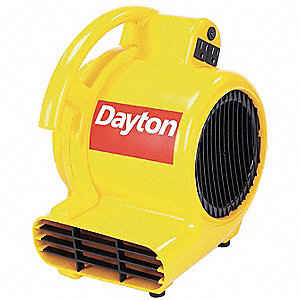 1.5 Amps Carpet/Floor Dryer, 500 CFM High, Yellow