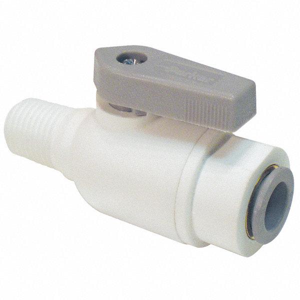 Parker polypropylene mnpt push ball valve lever