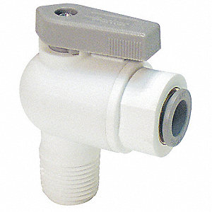 Nylon Ball Valve,Push x MNPT,1/4 in