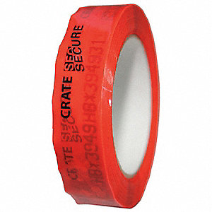 TAMPER EVIDENT,TAPE,1IN.X180FT,RED