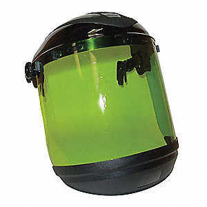 Faceshield Assembly,Black,8x15x0.06 in.