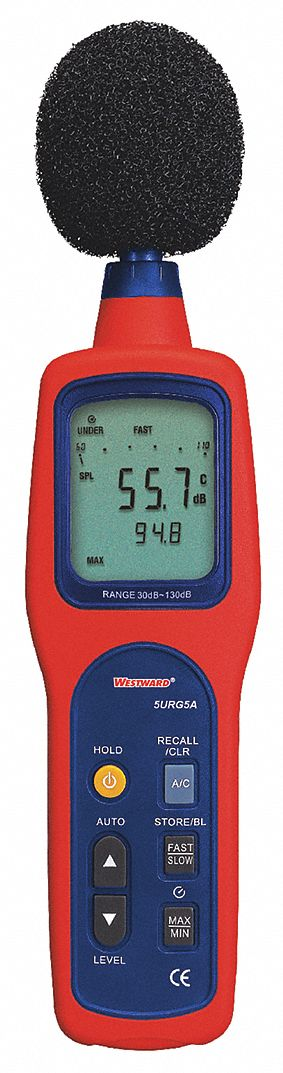 Digital Sound Level Meter, A & C Weighted