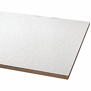 "Ceiling Tile, 24"" Width, 48"" Length, 5/8"" Thickness, Mineral Fiber"