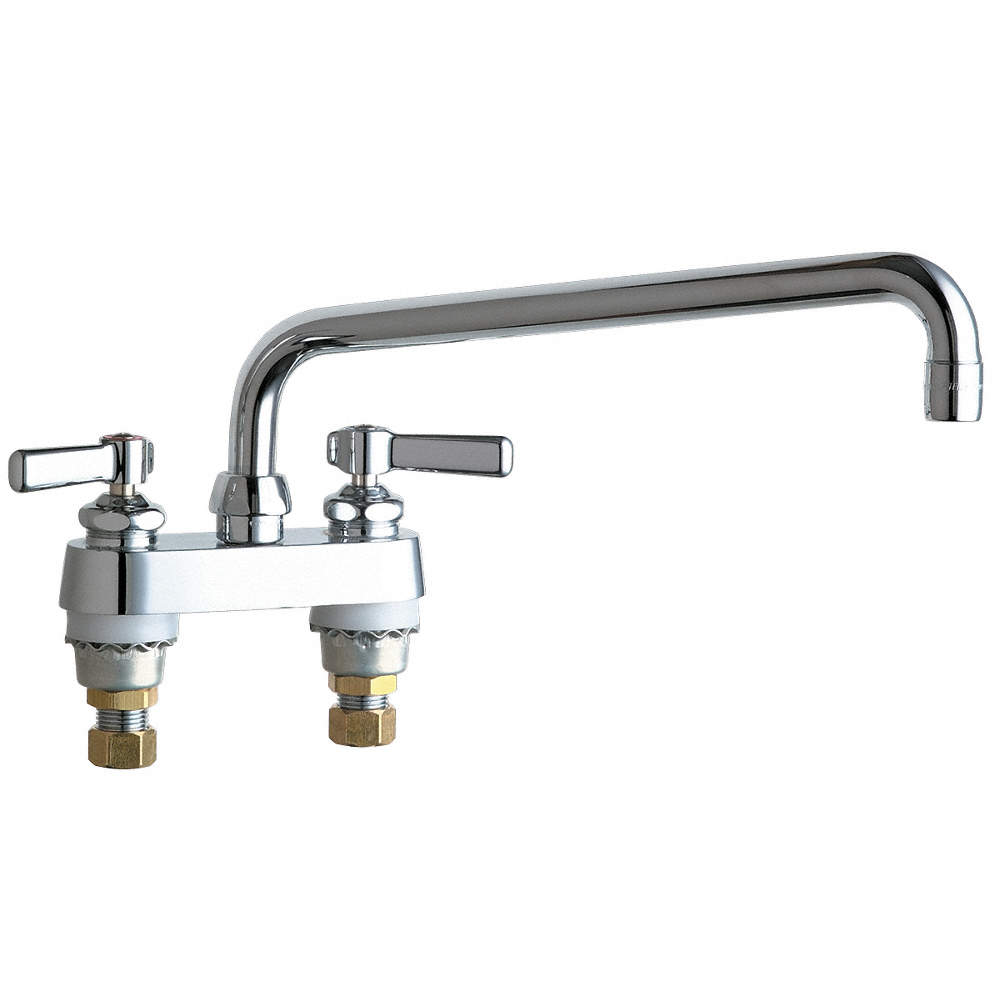 CHICAGO FAUCETS Cast Brass Kitchen Faucet, Manual Faucet Operation ...