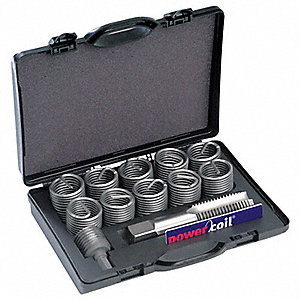 "304 Stainless Steel Helical Thread Repair Kit, 1-1/2-6 Size, 2.250"" Length"