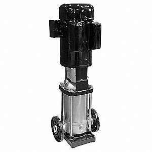 "120/208 to 240VAC Totally Enclosed Fan-Cooled Multi-Stage Booster Pump, 11-Stage, 1-1/4"" Flanged Inl"