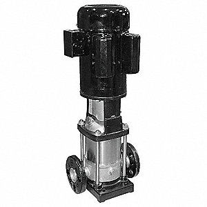 "120/208 to 240VAC Totally Enclosed Fan-Cooled Multi-Stage Booster Pump, 5-Stage, 1-1/4"" Flanged Inle"