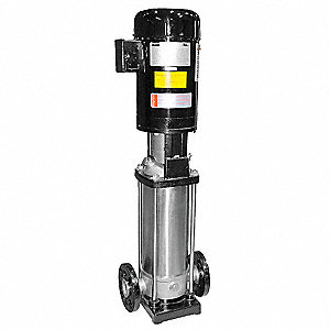 "3 HP Vertical Multi-Stage Booster Pump, 3 Phase, 208-230/460 Voltage, Outlet: 1-1/4"" FNPT"