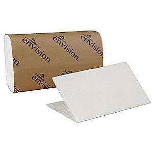 "9-1/4 x 10-1/4"" 1-Ply Single Fold Paper Towel Envision®, White&#x3b; PK16"