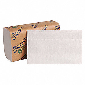 "Pacific Blue Basic™ 1-Ply Single Fold Paper Towel Sheets, 9-1/4"" x 10-1/4"", White, 16PK"
