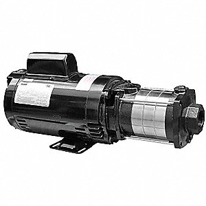 "1/2 HP Horizontal Multi-Stage Booster Pump, 1 Phase, 115/230 Voltage, Outlet: 3/4"" FNPT"