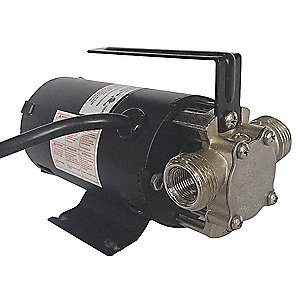 1/10 HP Nickel-Plated Brass Compact Flexible Impeller Utility Pump, Intermittent