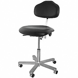 "Vinyl ESD Task Chair with 17 to 24"" Seat Height Range and 300 lb. Weight Capacity, Black"