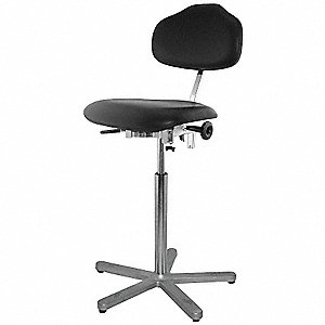 "Vinyl ESD Task Chair with 24 to 34"" Seat Height Range and 300 lb. Weight Capacity, Black"