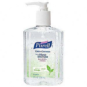 8 oz. Hand Sanitizer Pump Bottle, 1 EA