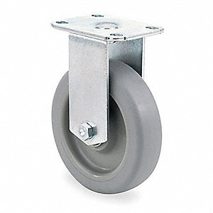 "3-1/2"" Light-Duty Rigid Plate Caster, 155 lb. Load Rating"