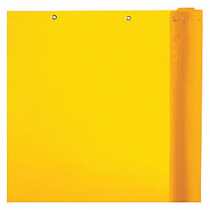 Transparent Vinyl Welding Curtain Roll, Height: 5 ft., Width: 75 ft., Yellow