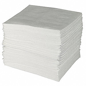 "30"" Absorbent Pad, Fluids Absorbed: Oil-Based Liquids, Medium, 50 gal., 50 PK"