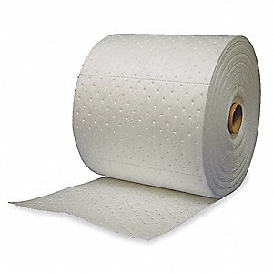 Heavy, 3 Ply Absorbent Roll, Fluids Absorbed: Oil Only / Petroleum, 150 ft. Length