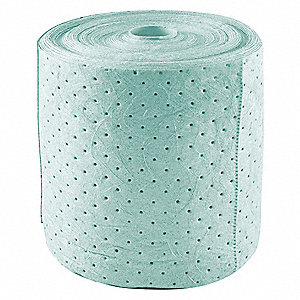 Medium, 3 Ply, Dimpled, Surfactant Treated Polypropylene Absorbent Roll, Fluids Absorbed: Universal