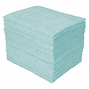"12"" x 12"" Heavy Absorbent Pad for Universal / Maintenance, Green&#x3b; PK200"
