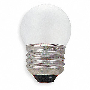 8.0 Watts Incandescent Lamp, S11, Medium Screw (E26), 39 Lumens, 2700K Bulb Color Temp., 1 EA