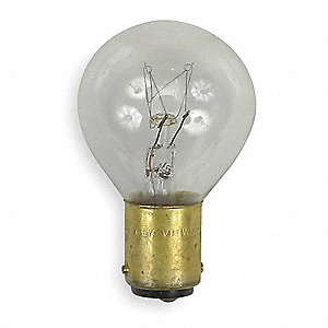 Trade Number 15S11/3DC, 15.0 Watts Miniature Incandescent Bulb, S11, Double Contact Bayonet (BA15d)