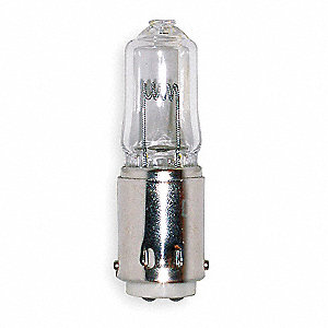 100 Watts Halogen Lamp, T4, Double Contact Bayonet (BA15d), 1550 Lumens, 2950K Bulb Color Temp.