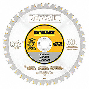 "6-1/2"" Carbide Metal Cutting Circular Saw Blade, Number of Teeth: 36"